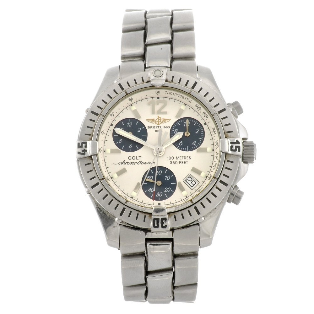 5: (109230) A stainless steel quartz gentleman's Breitl