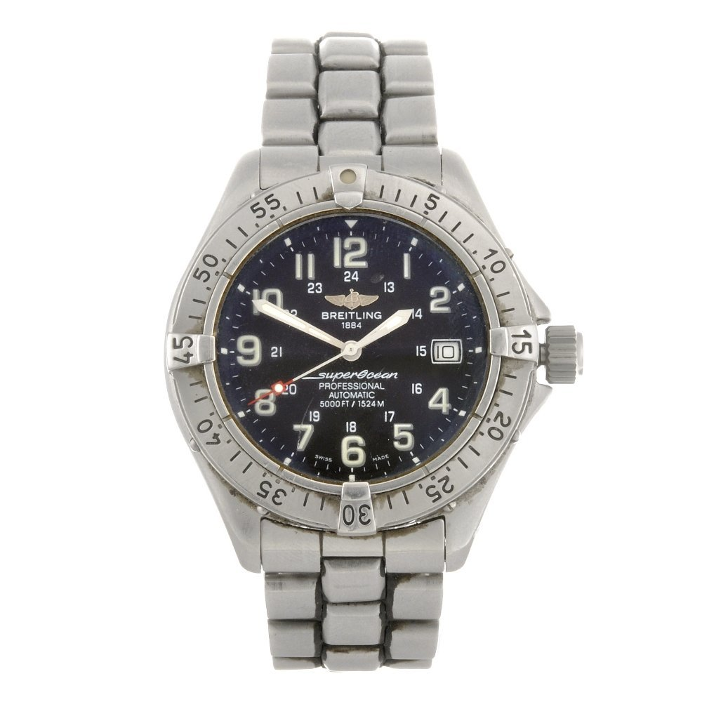 7: (88219) A stainless steel automatic gentleman's Brei