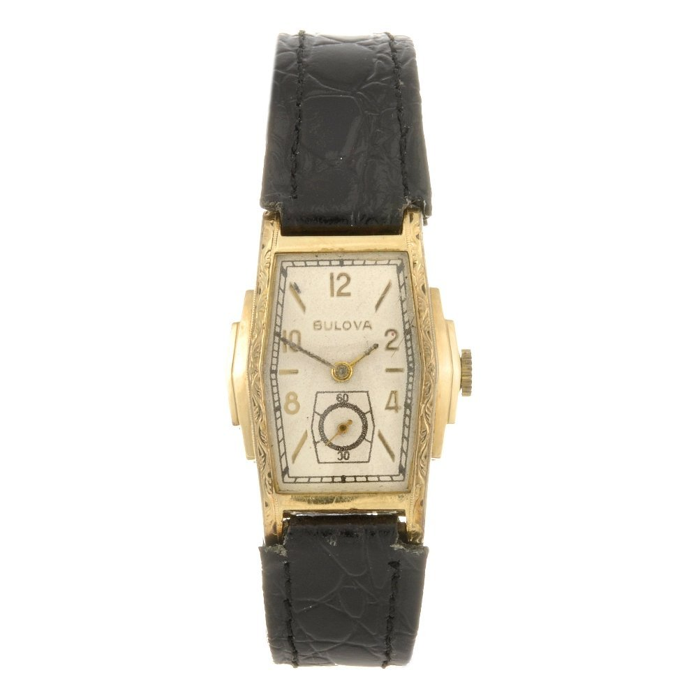 17: A 10k gold filled manual wind Bulova wrist watch.
