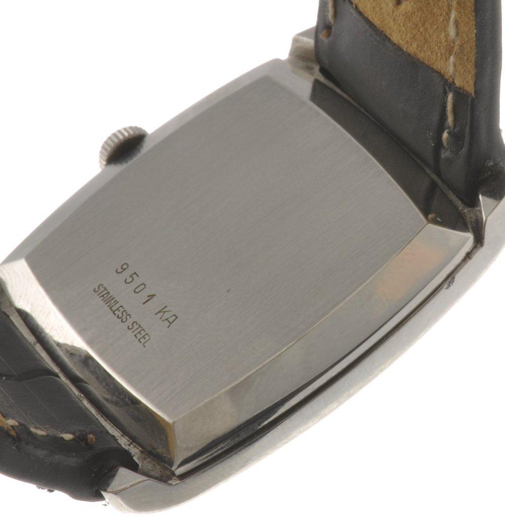 44: A stainless steel manual wind gentleman's Girard Pe - 2
