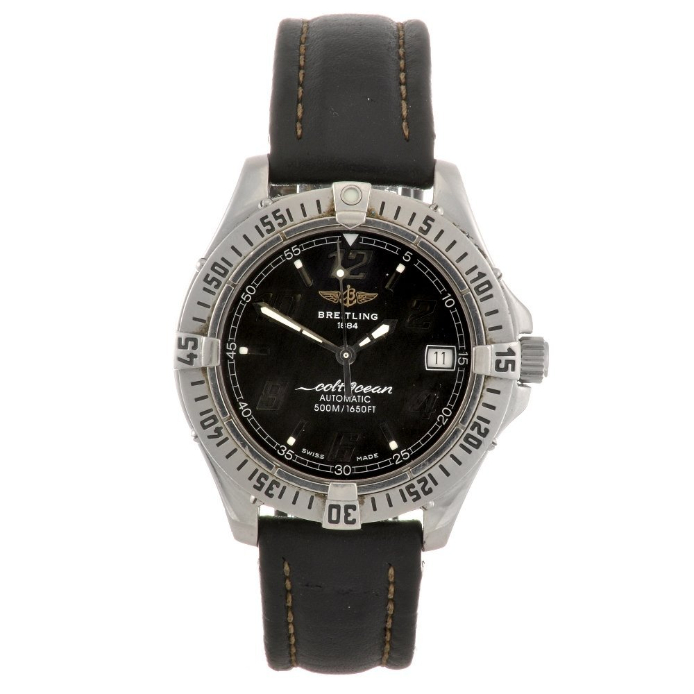 6: (809031341) A stainless steel automatic gentleman's