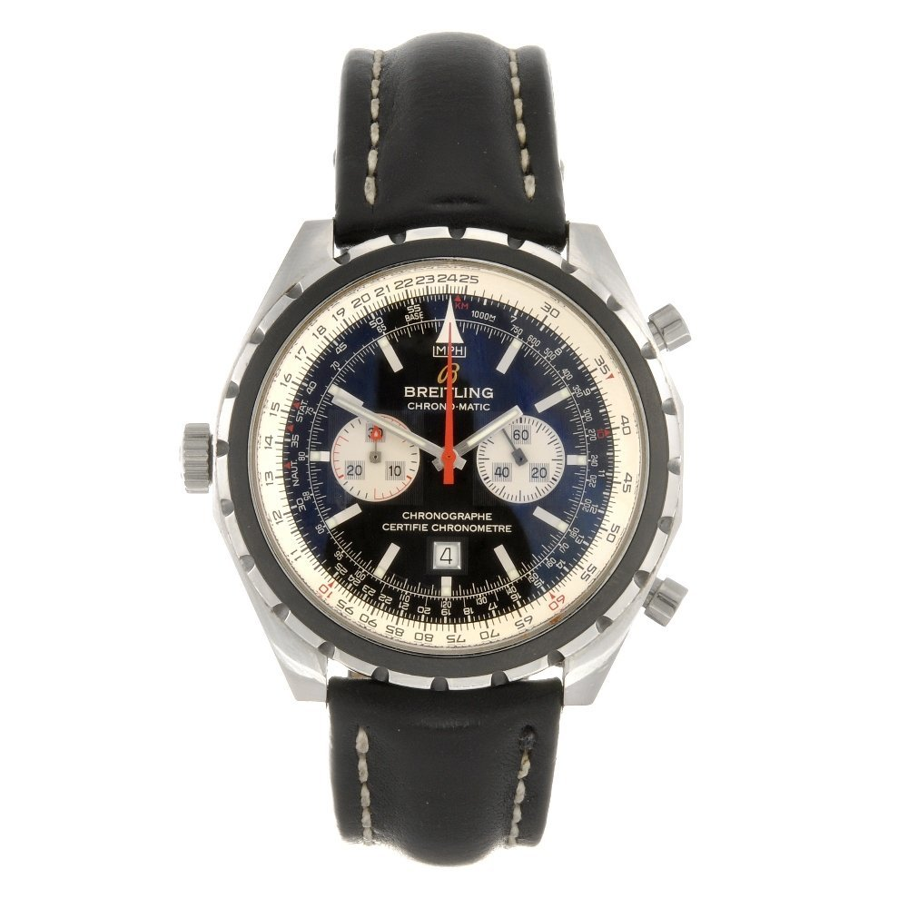 7: A stainless steel automatic gentleman's Breitling Ch