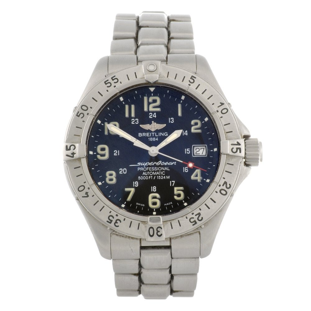8: (24680) A stainless steel automatic gentleman's Brei