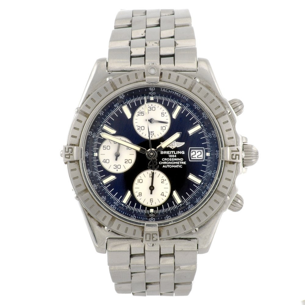 9: (65779) A stainless steel automatic chronograph gent