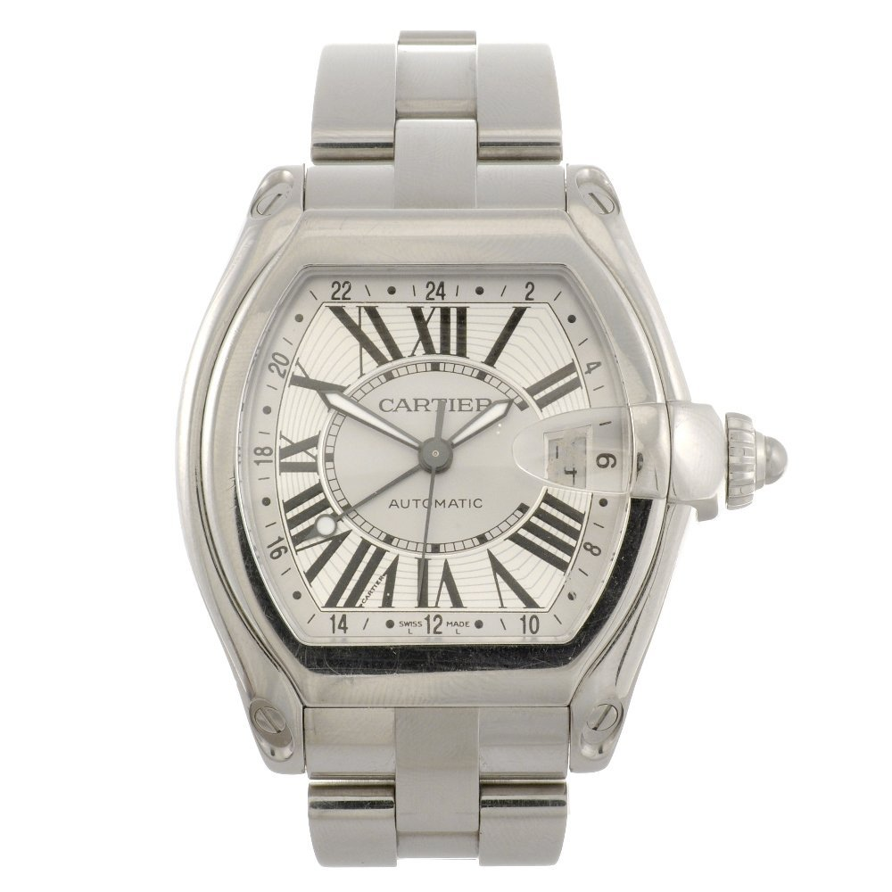 17: (809031294) A stainless steel automatic Cartier Roa