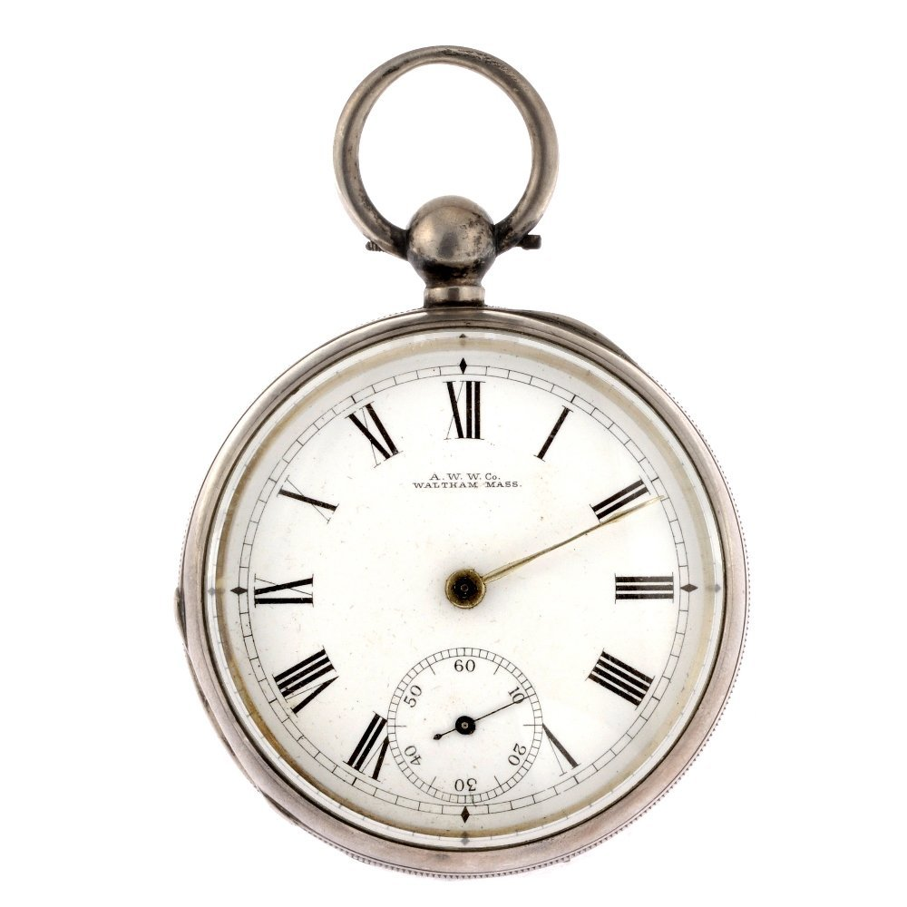 12: A Victorian silver key wind open face pocket watch