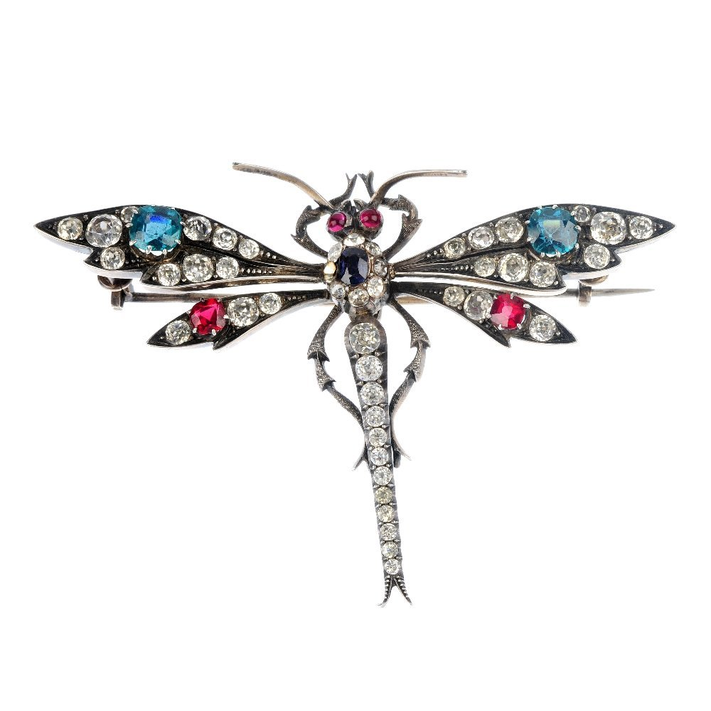 1: A mid 20th century dragonfly brooch.