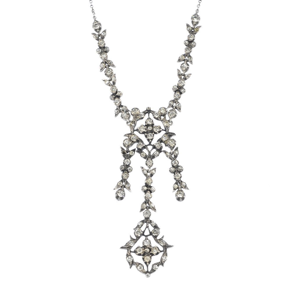 11: A mid 20th century continental silver paste necklac