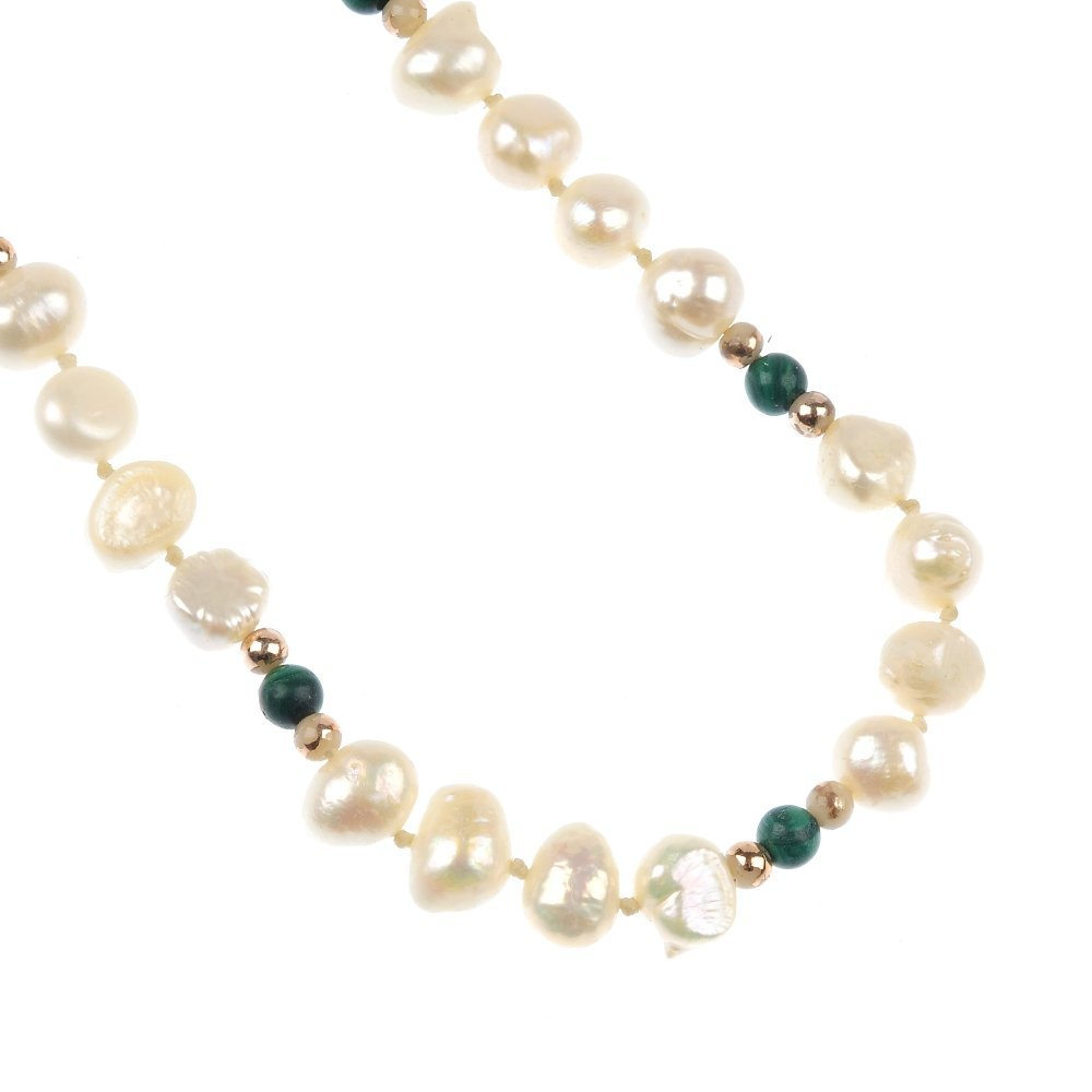 603: A selection of freshwater cultured pearl and imita