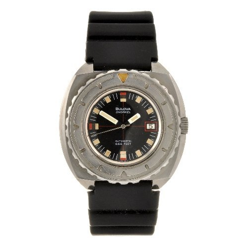 11: A stainless steel automatic gentleman's Bulova Snor