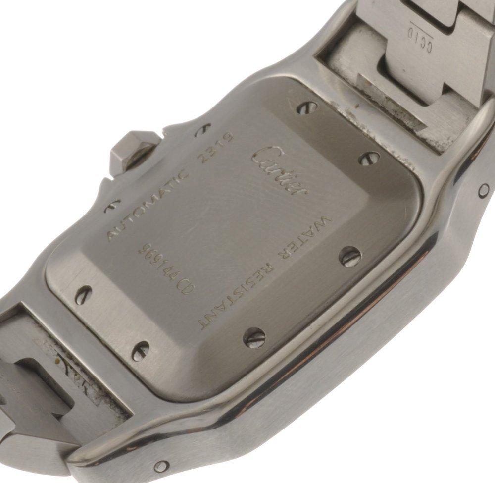 20: (119176149) A bi-metal automatic Cartier Santos bra - 2