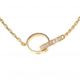 352: CARTIER - a diamond 'LOVE' necklace.