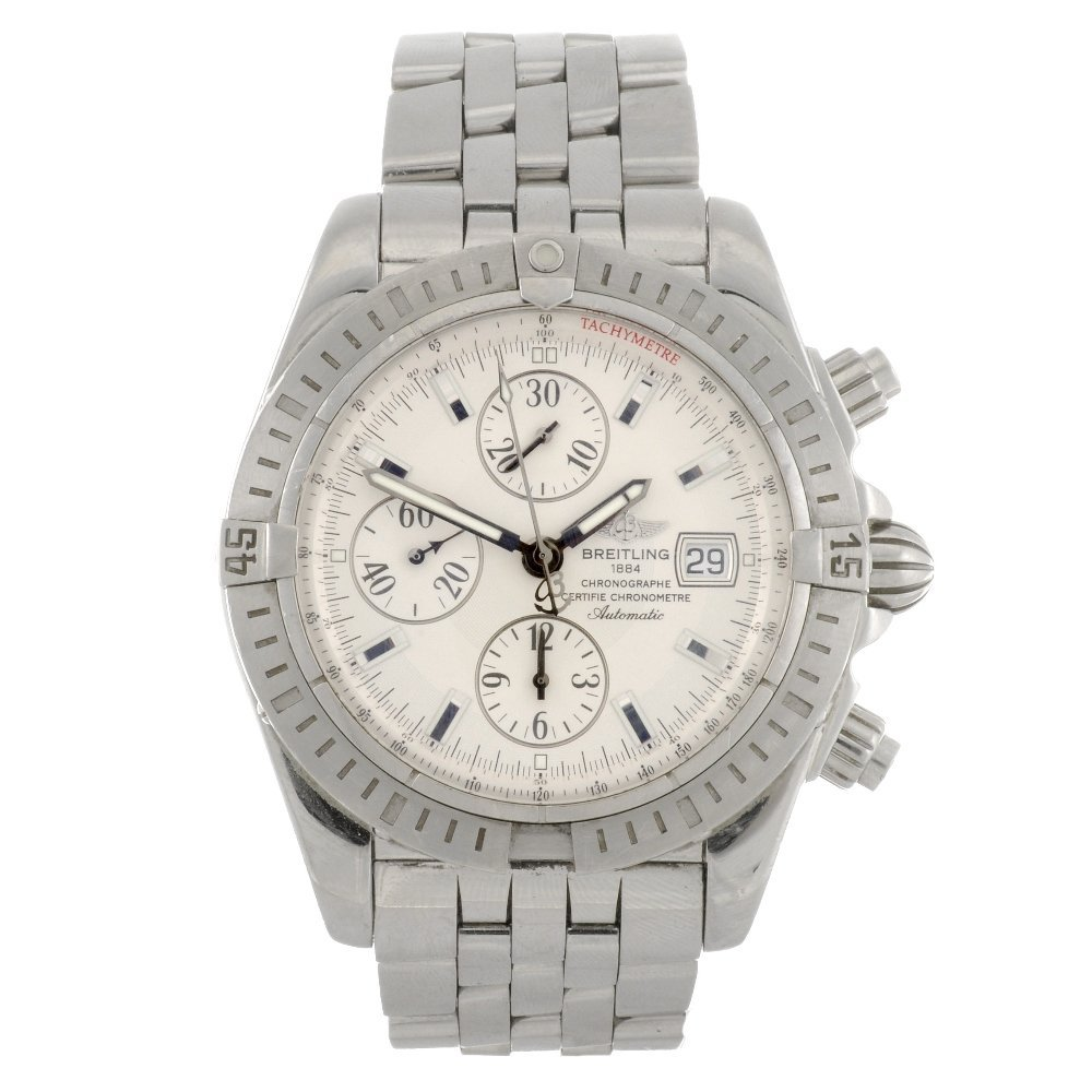 6: (87015) A stainless steel automatic gentleman's Brei