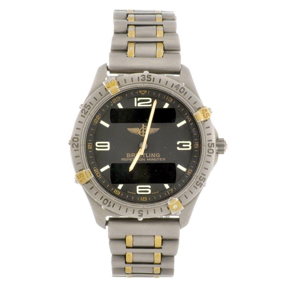 7: (100632) A titanium quartz gentleman's Breitling Aer