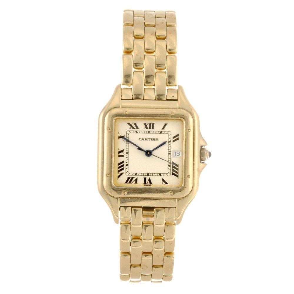 13: (107208761) An 18k gold quartz Cartier Panthere bra