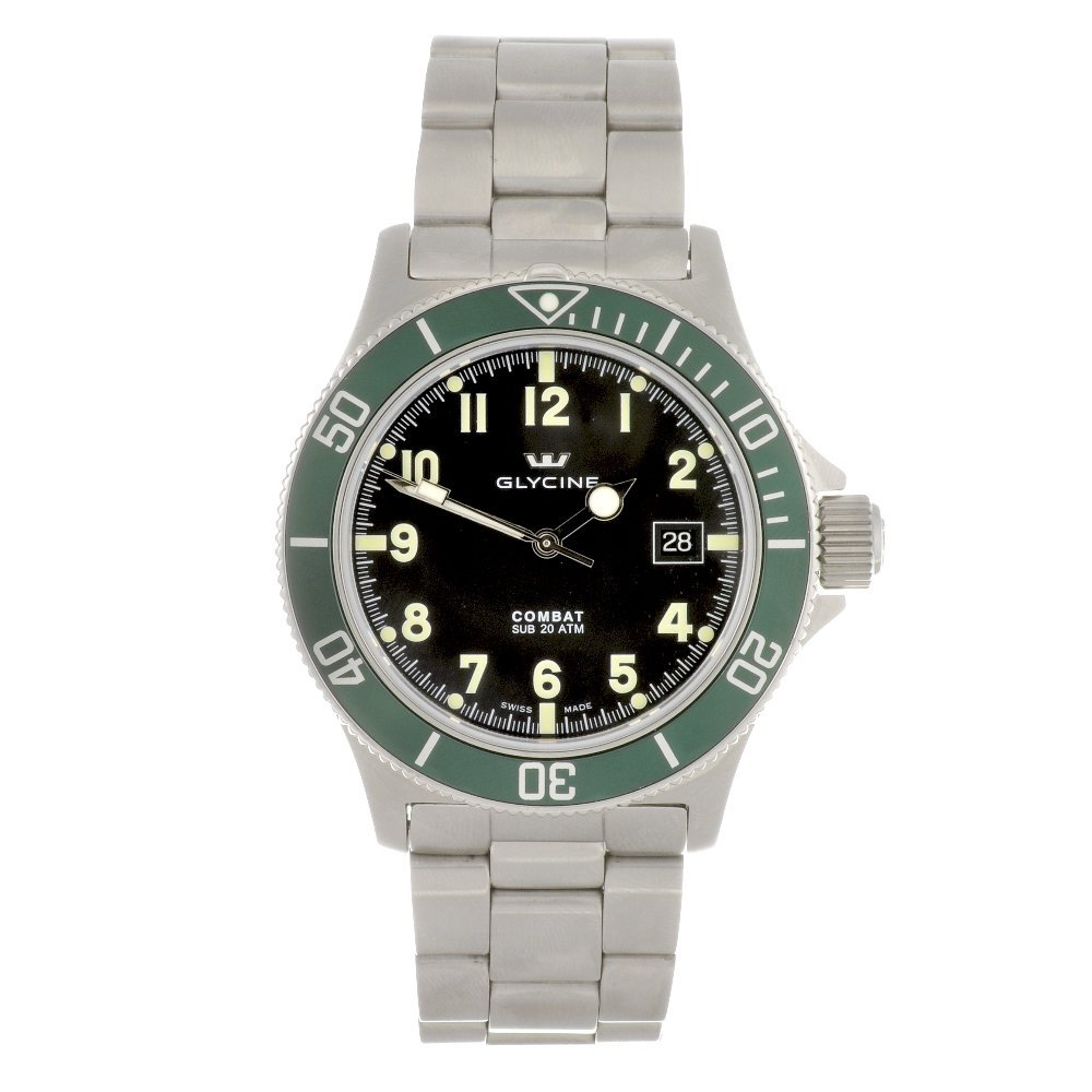 20: A stainless steel automatic gentleman's Glycine Com