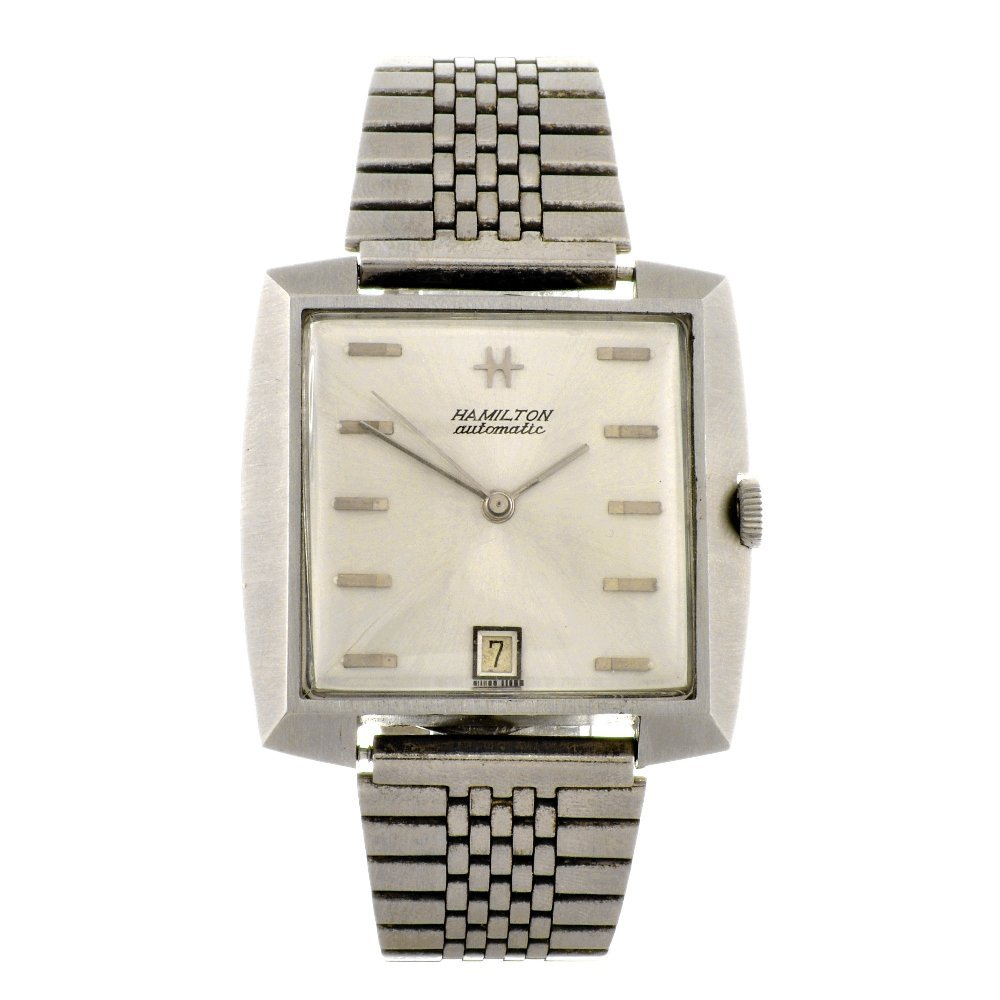 23: A stainless steel automatic gentleman's Hamilton br