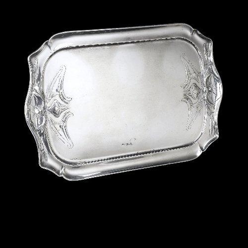 Art Nouveau silver tray.