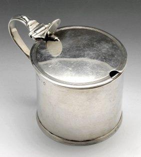 George III silver mustard pot.
