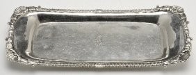 George III silver snuffer tray.