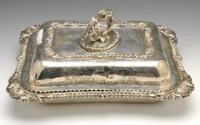 Late George III Silver Entree Dish & Cover.