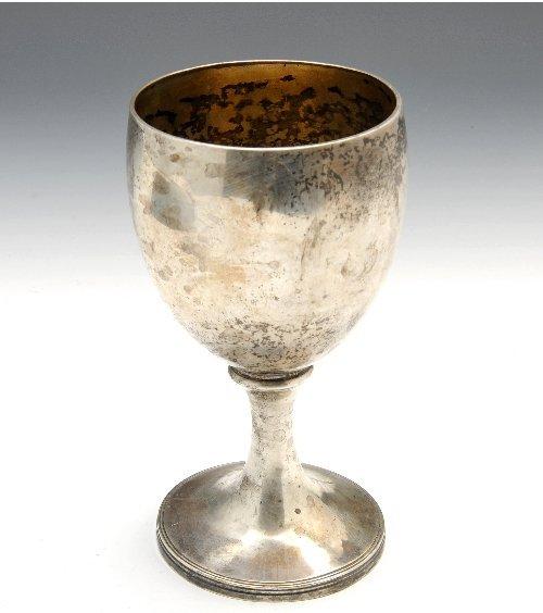 George III silver goblet by Peter & William Bateman.