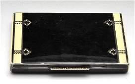 Continental Art Deco silvergilt and enamel cigarette c