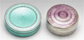 Two early 20th century silver enamel boxes, including G