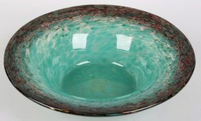 A Monart glass bowl