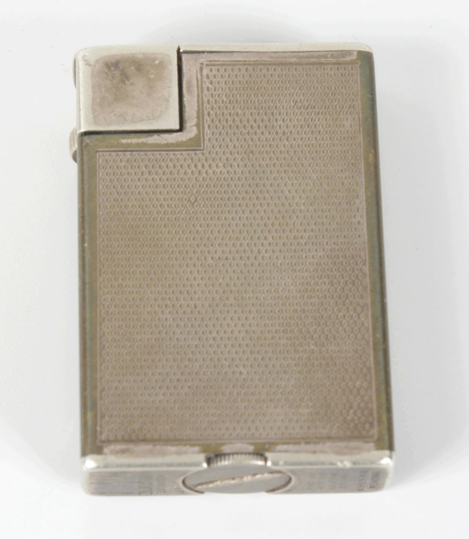A Dunhill silver-plated lighter