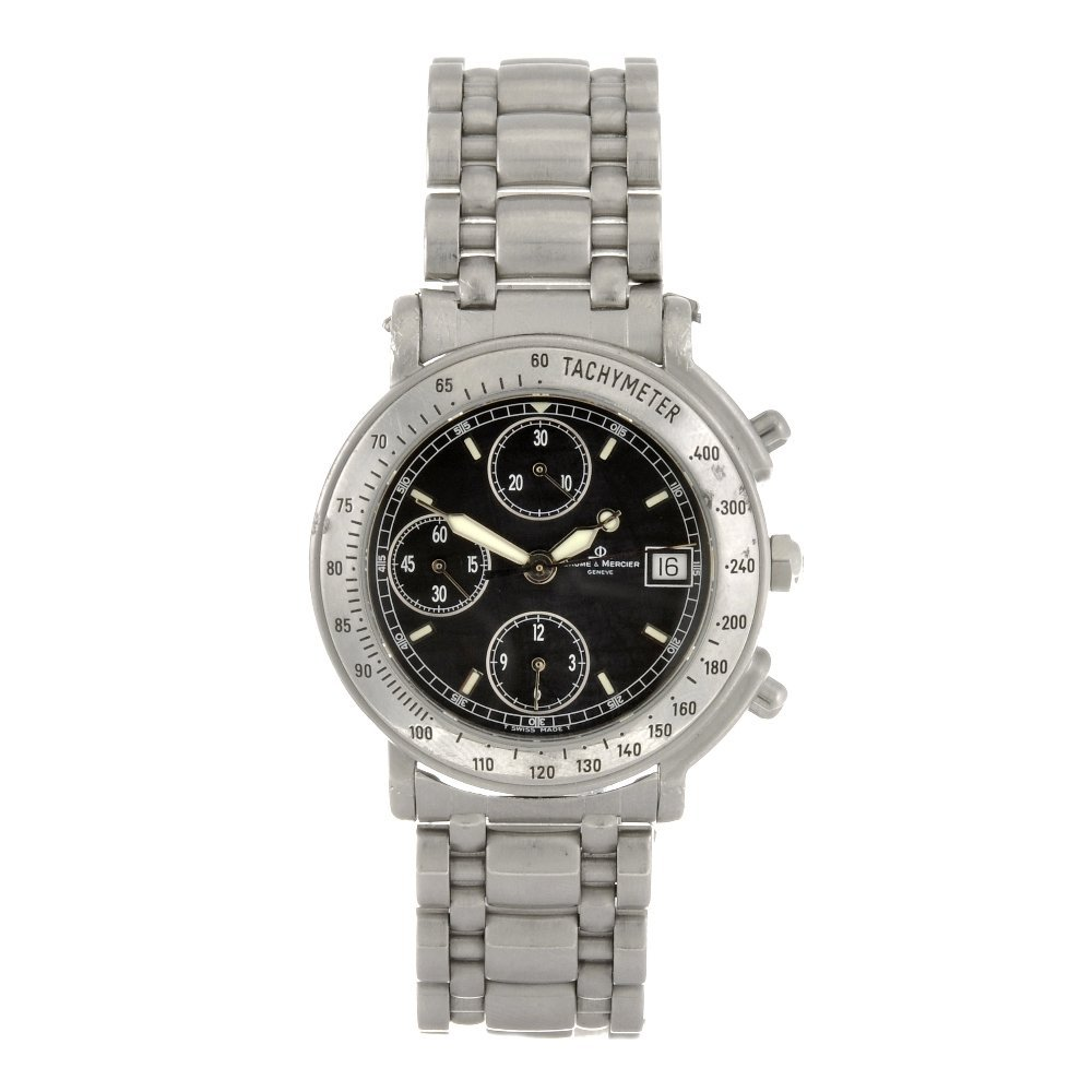 1: (63066) A stainless steel automatic gentleman's Baum