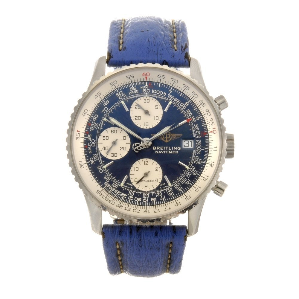 4: A stainless steel automatic gentleman's Breitling Na
