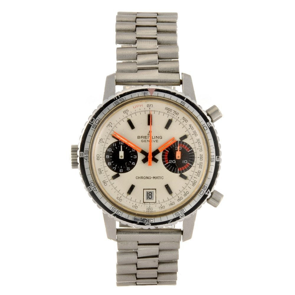 5: A stainless steel automatic chronograph gentleman's