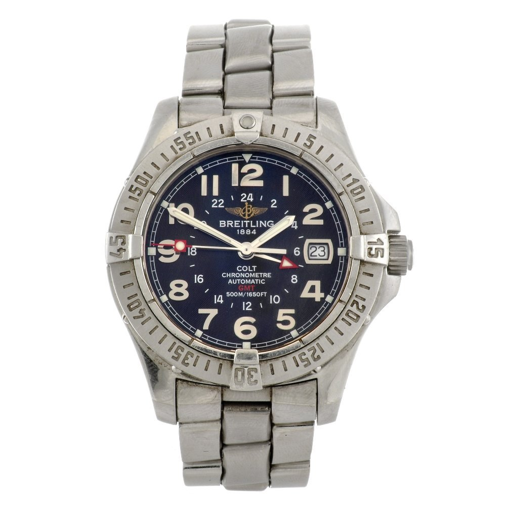 9: (101119) A stainless steel automatic gentleman's Aer