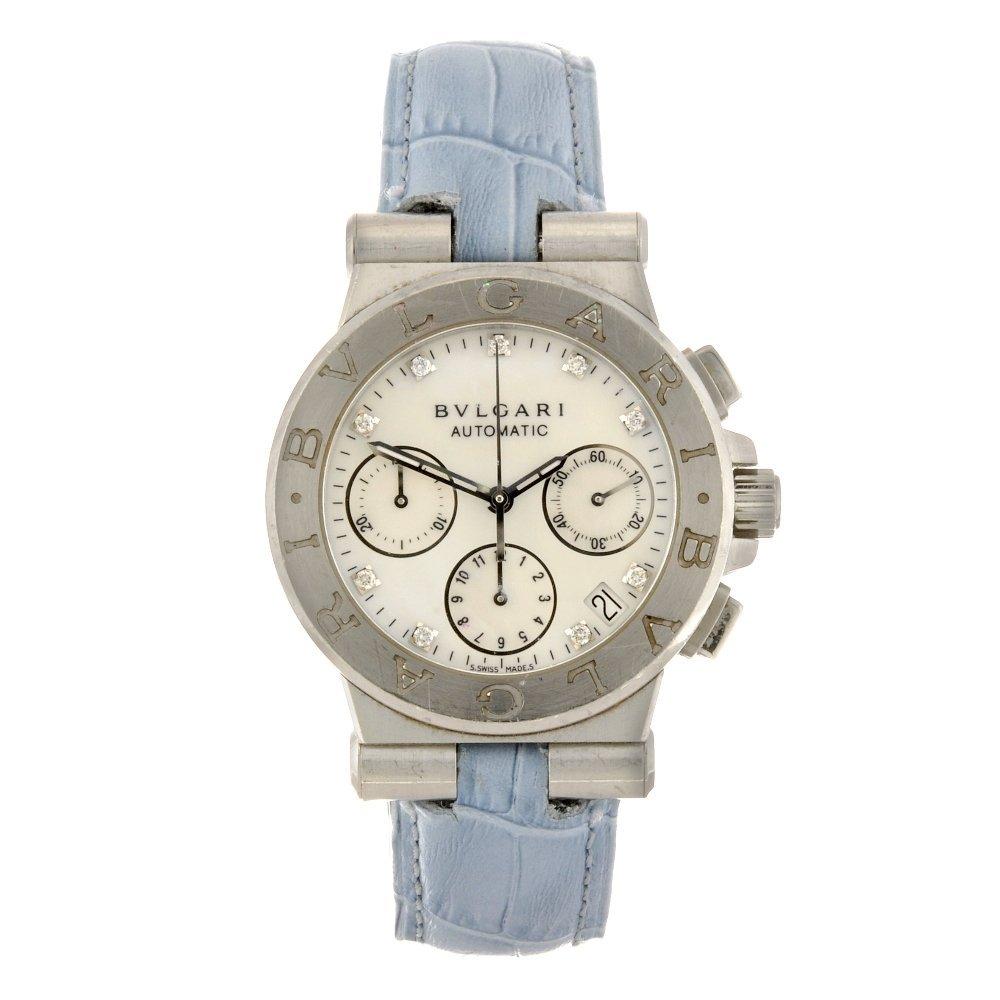 10: A stainless steel automatic chronograph Bulgari Dia
