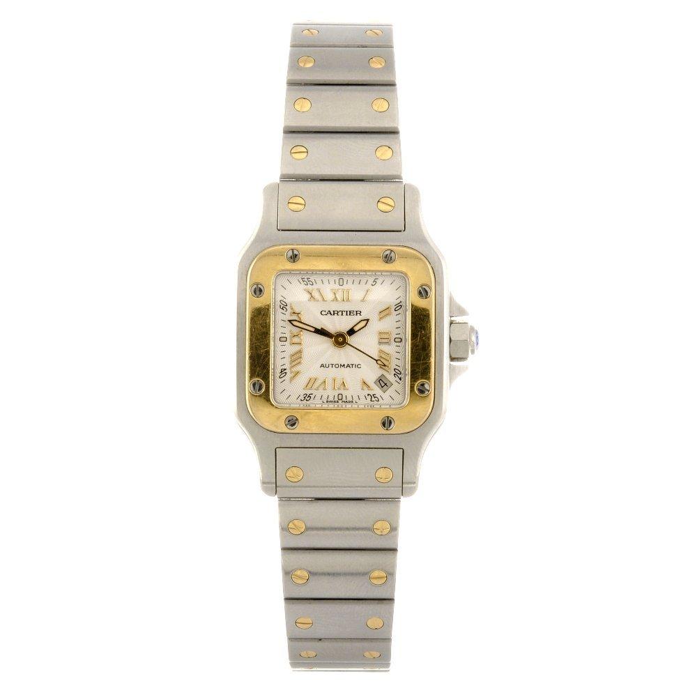 17: (89473) A bi-metal automatic Cartier Santos bracele