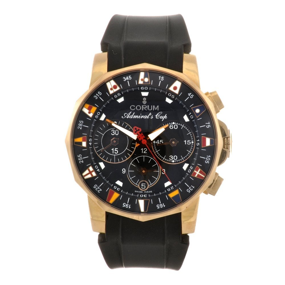 22: (108529) An 18k gold automatic chronograph gentlema