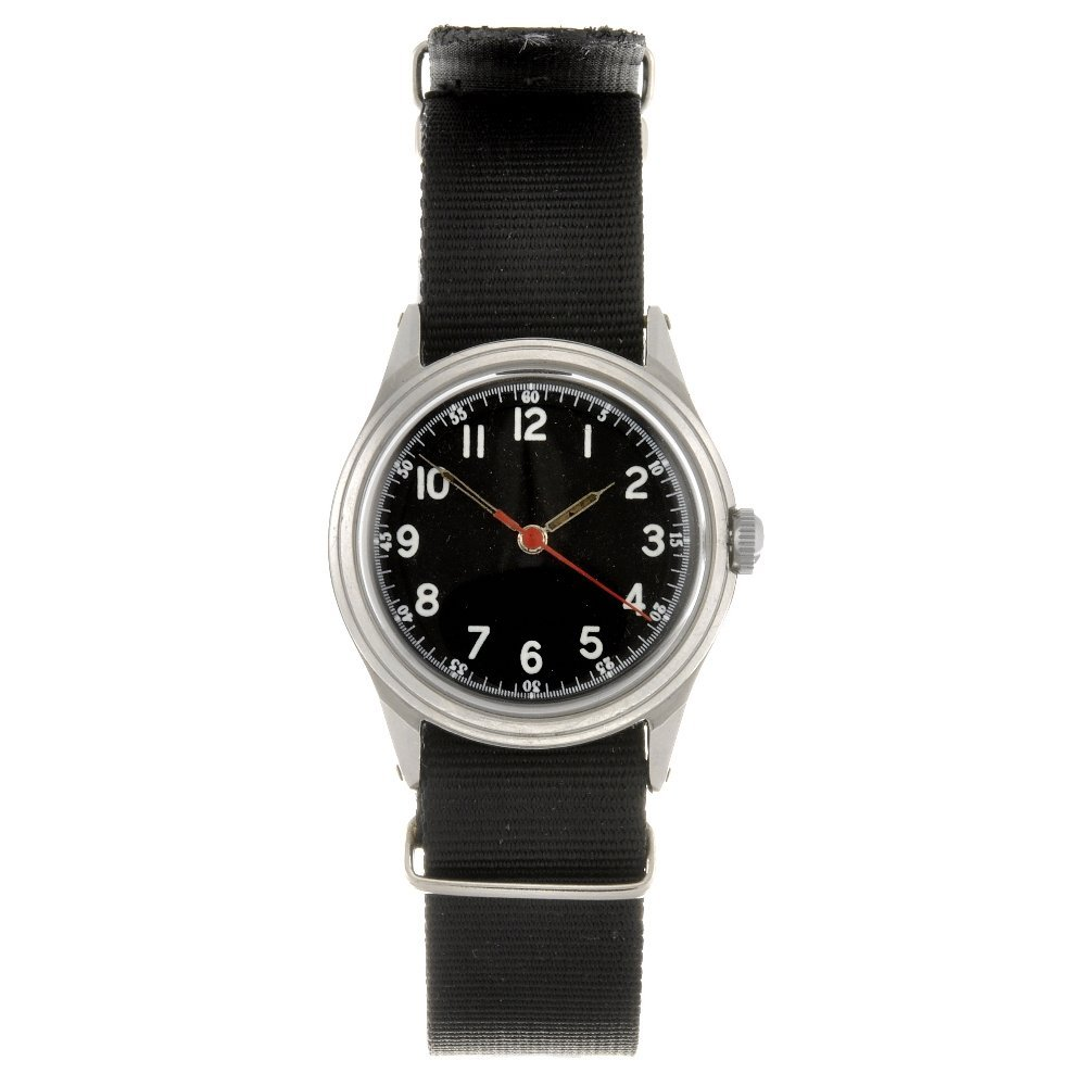 23: A stainless steel manual wind mid-size military iss