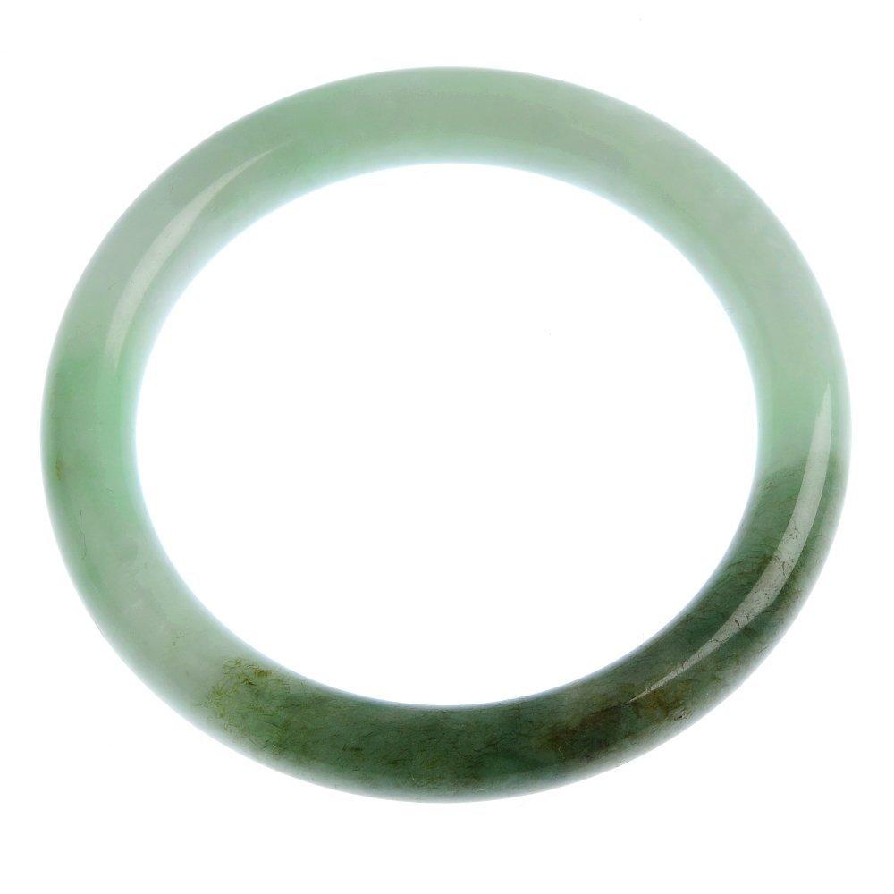 10: A jadeite bangle.