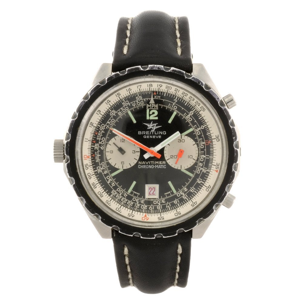 6: (92504) A stainless steel automatic chronograph Brei