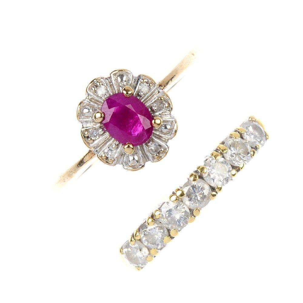 467: Two gem-set rings.