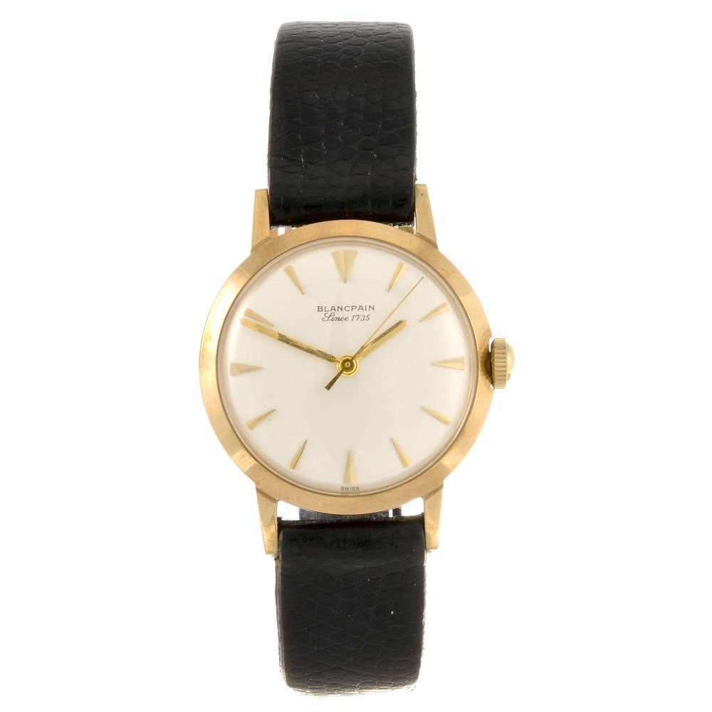 4: A 9ct gold manual wind gentleman's Blancpain wrist w