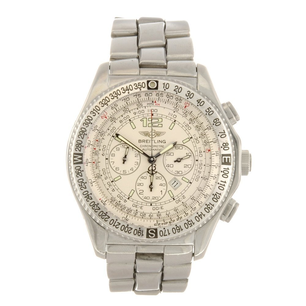 7: A stainless steel automatic chronograph gentleman's