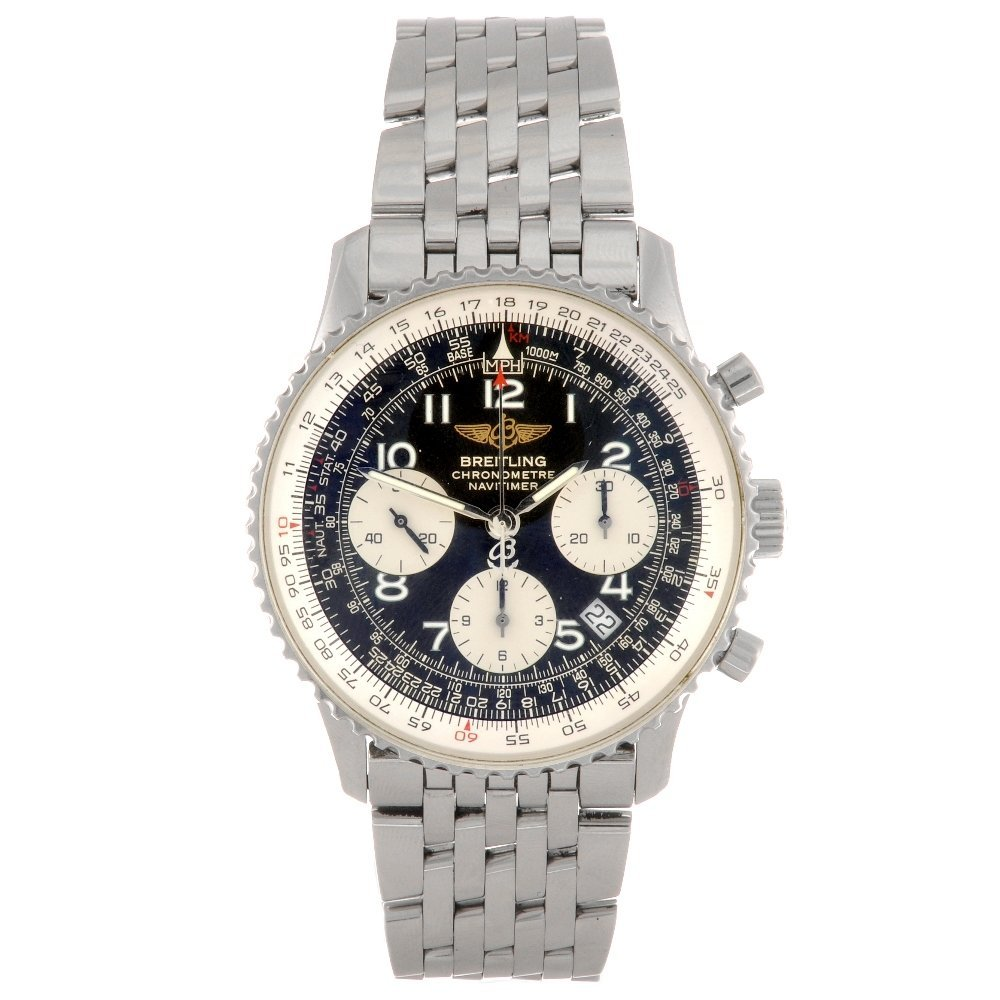 8: A stainless steel automatic chronograph gentleman's