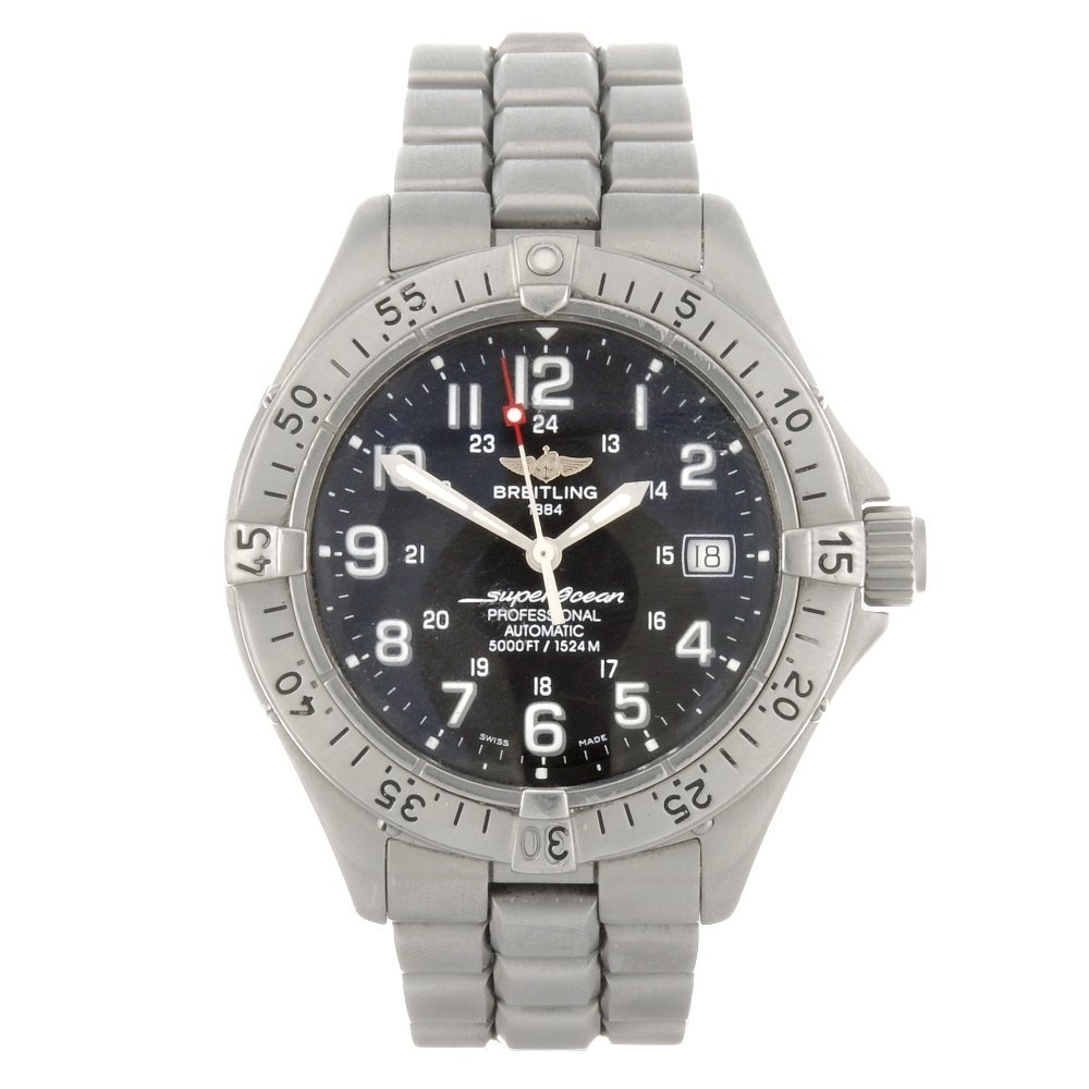 10: A stainless steel automatic gentleman's Breitling S
