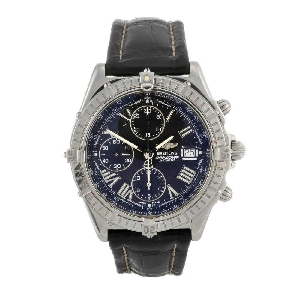 11: A stainless steel automatic gentleman's Breitling W