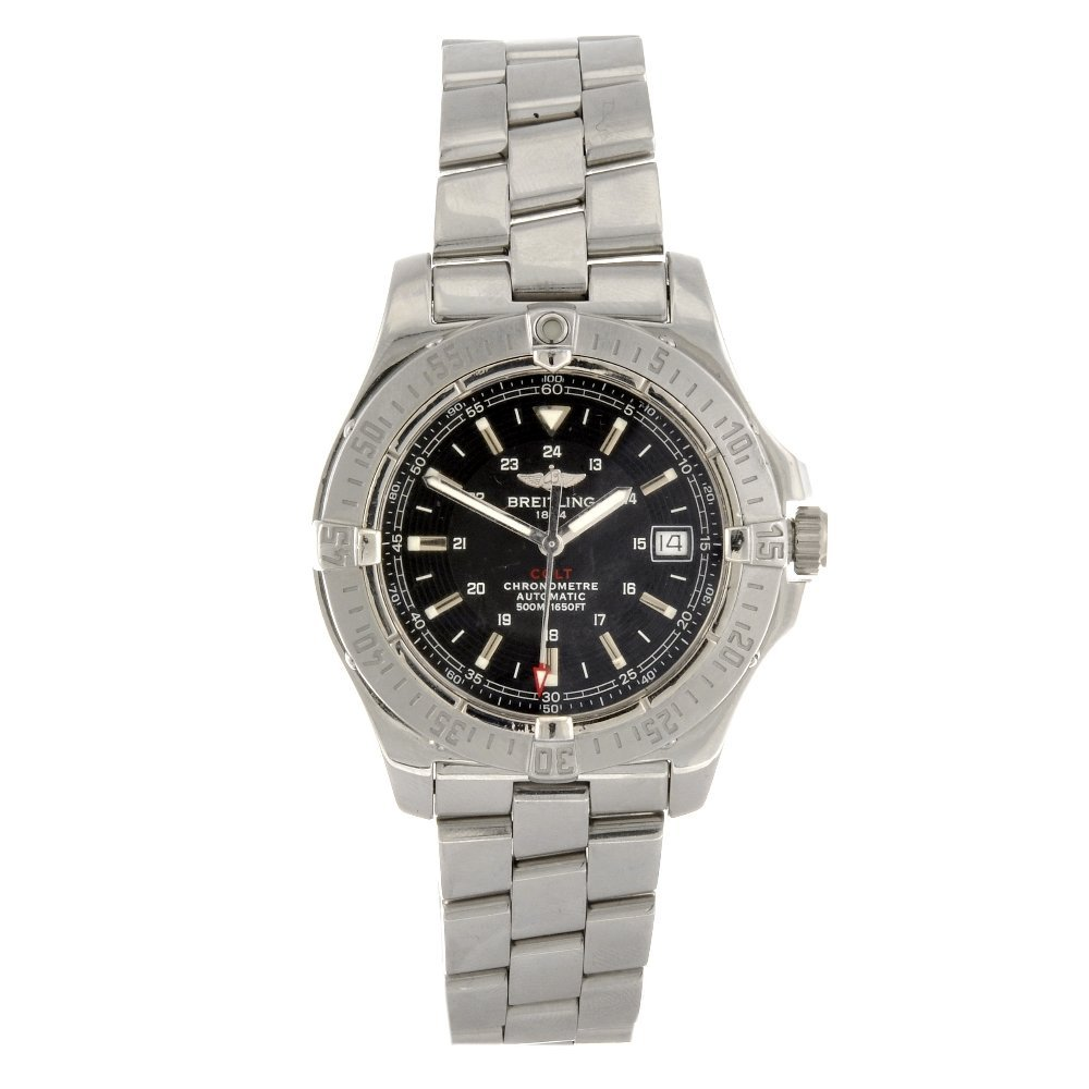 13: A stainless steel automatic gentleman's Breitling A