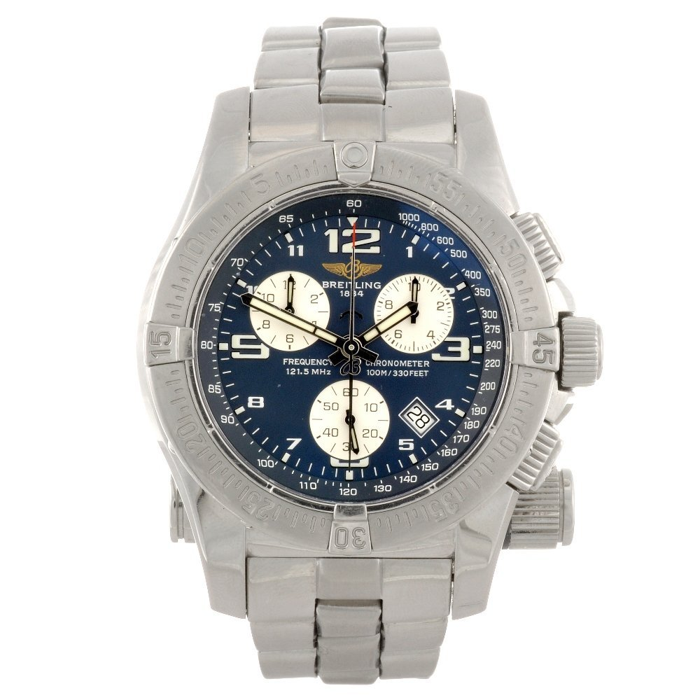 14: A stainless steel quartz chronograph gentleman's Br