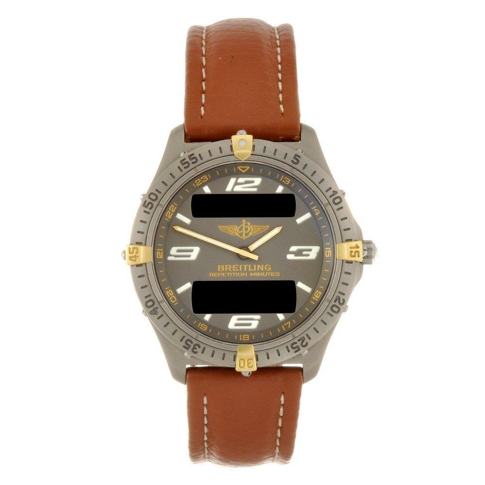 15: A titanium quartz gentleman's Breitling Aerospace w