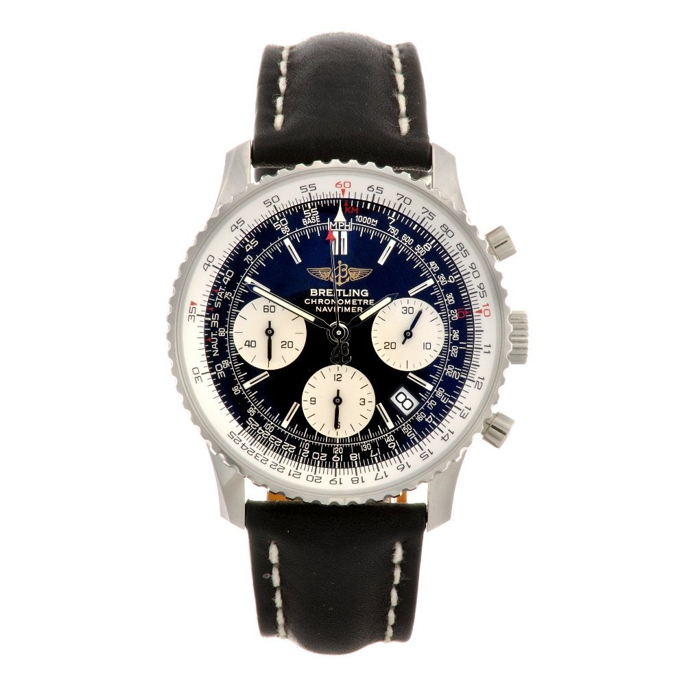18: A stainless steel automatic gentleman's Breitling N